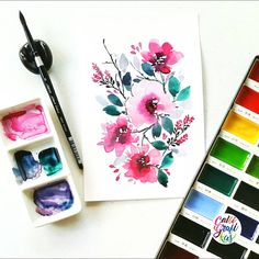 Been sick since Monday  and my cough and colds are getting worst but botanicalwatercolor Paper: Cabson 200gsm Paint: Kuretake Gansai Tambi w/c Brush: Silver Brush Black Velvet round no 8