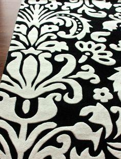 damask rugs | Keno Modern Damask Rug | Contemporary Rugs