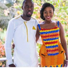 This picture served on a plate confirms African wedding dresses and design in Kente ...