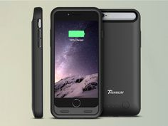 The Trianium Atomic S Battery Case is a durable, ultra-slim case enclosed with a 3100mAh battery that doubles the lifespan of your iPhone 6 battery life.