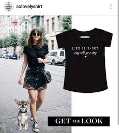 T-shirt LIFE IS SHORT, PLAY WITH DOGS