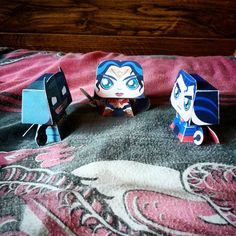 """""""""""I bet you two can't even remember what you were fighting over...!"""" #BatmanVsSuperman #papercraft toys"""""""