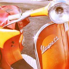 Orange 1960s Vespa GL colourscope: Vespa GL (by Carrie L. Hale)