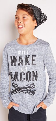 Too cool for color, always ready for bacon