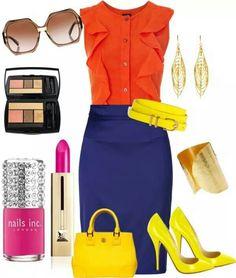 Precioso!!!! Azul y Naranja perfecto