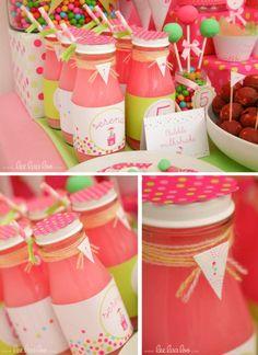 pink gumball birthday party by www.leelaaloo.com