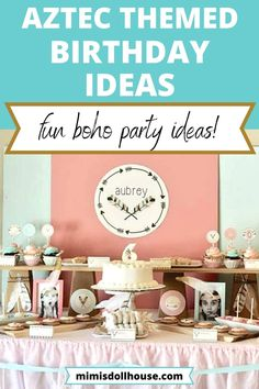 Tribal party ideas for a lovely girl's birthday party! Boho Chic Party: Aubrey's Girly Tribal Birthday. Looking for a way to celebrate a boho loving babe? Love glitter and aztec feathers? Well, then today is your day as we are sharing a beautiful and feminine boho chic party with lots of girly tribal goodness! Check out all the boho chic party details and ideas. #bohochic #boho #coral #mint #gold #aztec #aztecparty #bohoparty #tribalparty #girlbirthday #partyideas