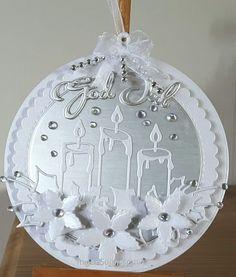 Xmas Cards To Make, Christmas Cards 2017, Christmas Paper Crafts, Christmas Gift Tags, Handmade Christmas, Easy Christmas Ornaments, Christmas Snow Globes, Christmas Candles, Christmas Decorations