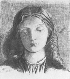 Facial portrait of a young woman with long hair
