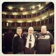 Emanuele Scatarzi insieme a Maurizio e Filippo al Biella Festival