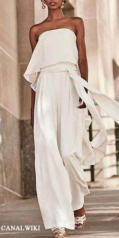 Fashion Jumpsuits Sexy pure colour belted off-shoulder sleeveless jumpsuits, various style and design you will love it, jumpsuits, sweaters Mode Outfits, Fashion Outfits, Womens Fashion, Fashion Trends, Fashion Ideas, Fashion Clothes, Trendy Outfits, Fashion Tips, Elegante Jumpsuits