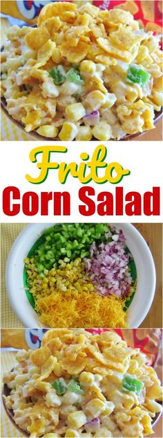 Frito Corn Salad recipe from The Country Cook #easy #recipes #frito #corn #salad