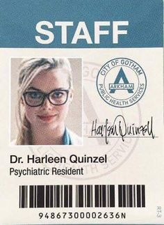 Harley badge for cosplaying Harleen Quinzel #HarleyQuinn #suicidesquad