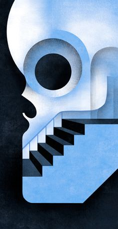 Maria Corte Illustration, requiem for the staircase