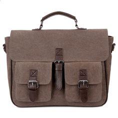 Canvas Messenger Bag Business Casual Männlichen Satchel Travel Schulter  Laptoptaschen Masculina Vintage Männer Crossbody Aktentasche Bolsas 934fdf0a542