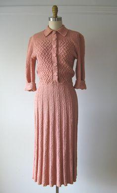 1940s knit dress