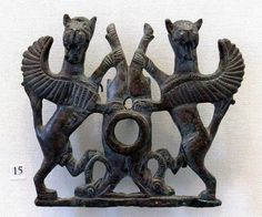 Luristan bronze horse bits, ca 900-600 BC.