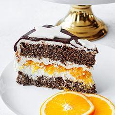 Tort makowy z pomarańczami | Kwestia Smaku