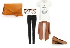 Daily outfit made by Broshka.  Brown bag and shoes are available on www.broshka.pl