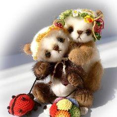 Mini bear PATTERN Lolita and Sofi  emailed PDF  by par TSminibears