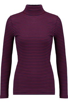 Shop on-sale Petit Bateau Striped cotton rib-knit turtleneck top. Browse other discount designer Tops & more on The Most Fashionable Fashion Outlet, THE OUTNET.COM