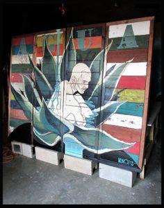 'AGUA', a garden mural