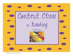 FREE Context Clues in Reading-Increase vocabulary skills using context clues during reading! The activity consists of a chart for vocabulary terms, recording context clues, ...