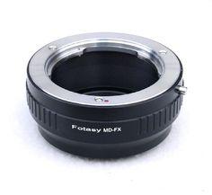 Fotasy Minolta MD Rokkor Lens to Fujifilm X-Mount Camera X-Pro1 X-Pro2 X-E1 X-E2 X-E2S X-M1 X-A1 X-A2 X-A3 X-A10 X-M1 X-T1 X-T2 X-T10 X-T20 Adapter