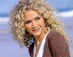 Spiral curls - not a fan of blondes - but this hair is awesome!