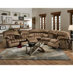 Lane Furniture Robert 4 Piece Reclining Sectional Sofa With Chaise, Beige |  When I Finally Have My Own Place :) | Pinterest | Reclining Sectional Sofas,  ... Part 30