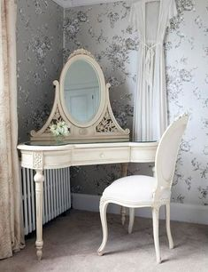 Beautiful corner makeup vanity table - dressing table