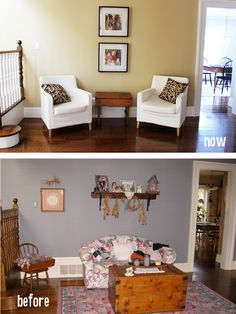 Fresh paint and slipcovers can make all the difference. By DIFY Design