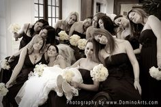 Sleeping beauties :) Very elegant and beautiful #bride with her #bridesmaids... #Wedding picture by #DominoArts #Photography (www.DominoArts.com)