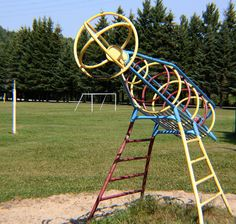 rocketship to the moon 1980's playground style by Half my Dad's age, via Flickr