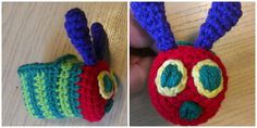 Caterpillar Bug Booties pattern - Free by Angela Bergeron