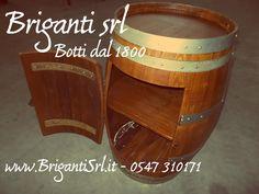 2095 - Portabottiglie rustico da botte - Briganti srl