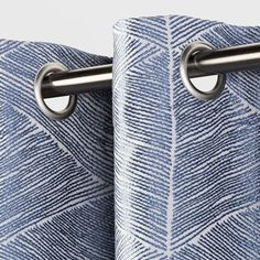 Modern Stroke Curtain Panels - Project - image 2 of 2 Floor To Ceiling Curtains, Sheet Curtains, Modern Curtains, Blue Curtains, Lined Curtains, Window Curtains, Bedroom Blackout Curtains, Have A Good Sleep, Beautiful Curtains