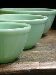 Jadeite Mixing Bowls - Set of 3