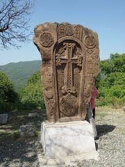 Armenian Cross-Stone near Gandzasar Monastery, Artsakh, Armenia