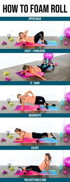 Learn the benefits of foam rolling and how to foam roll. Watch a video to see how it's done and grab a FREE printable foam rolling routine! Routine Printable, Printable Workouts, Free Printable, Rest Day Workouts, Fun Workouts, Body Workouts, Benefits Of Foam Rolling, Best Workout For Women, Female Personal Trainer