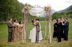 Rustic Wedding Arches | This trellis archway is so pretty, very rustic and sweet.