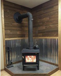 Wood Burning Stove Corner, Wood Stove Wall, Wood Stove Surround, Wood Stove Hearth, Stove Fireplace, Wood Burner, Indoor Wood Stove, Mini Wood Stove, Wood Stove Installation
