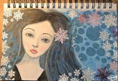 Art journal inspiration. MvM-Scrapdesigns: Ice Queen