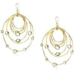 Isharya's Polki Allure Mirror Hoop Earrings. Gold.