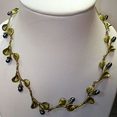 "AFRICAN VIOLET 16"" ADJ. NECKLACE by MICHAEL MICHAUD for SILVER SEASONS"