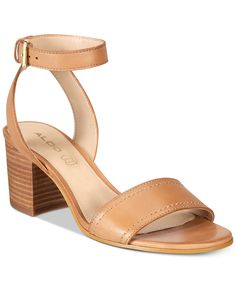 Aldo Women's Lolla Two-Piece Block-Heel Sandals - Tan/Beige Strap Sandals, Block Heels, Shoes Sandals, Color Block Shoes, Tan Heels, Aldo Shoes, Heeled Mules, Heeled Sandals, Zapatos