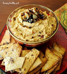 Caramelized Onion Hummus and National Olive Oil Month - Kim's Cravings