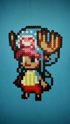 Tony Tony Chopper - One Piece hama perler beads by davedudedead