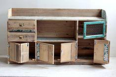 Muebles reciclados de Segnomaterico. Decoración del hogar.