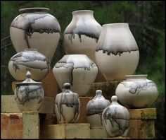 Horse hair pots by Micheal Mahar (SC)